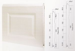 "Панел ""CASSETE STYLE"" касетъчен Бял / 610 мм. Х 3180 мм. Х 40мм."
