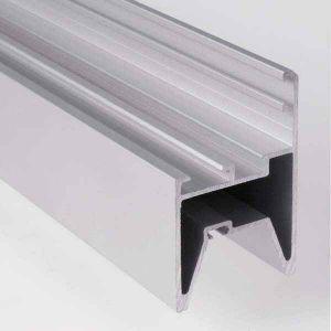 Долни алуминиеви профили за остъклени панел 40мм., L=7200мм.
