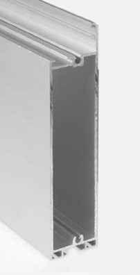 Странични алуминиеви профили, ДВОЙНИ за панел 40мм. х 610мм.