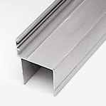 Алуминиеви профили с ПЕРО за проходни врати, за панел 40мм., дължина 3000мм.