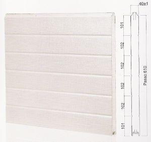 "Панел ""MONOWALL"" гладък Бял / 610 мм. Х 6100 мм. Х 40мм."