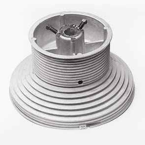 """Ролки за лифтово въже, HL max. 4100мм., H 6000мм., за тръба 1"""", max. 575кг."""