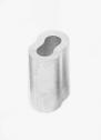 Скоби алуминиеви, овални, за лифтово въже 3мм.